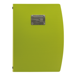 Zielona okładka na menu Rio...