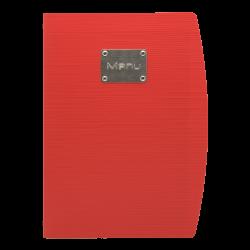 Czerwona okładka na menu...