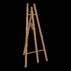 Drewniana sztaluga (4 nogi)